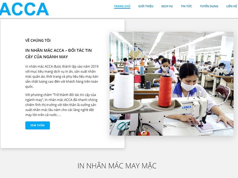 Web in nhãn mác ACCA
